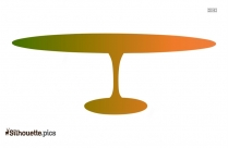 Hospitality Table Clip Art Silhouette