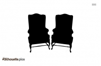 Modern Wing Chair Silhouette