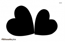 Black And White Two Heart Silhouette