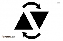 Black And White Up And Down Arrow Symbol Silhouette