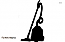 Black And White Vacuum Cleaner Silhouette