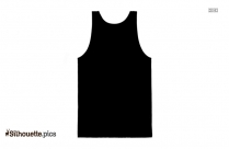 Black And White Half Sleeve T Shirt Silhouette Image