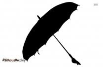 Black And White Vintage Umbrella Clipart Silhouette