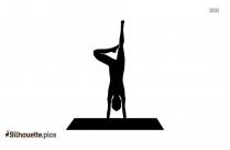 Crane Pose Yoga Silhouette Clip Art