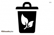 Black And White Waste Icon Silhouette