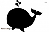 Jumping Whale Silhouette Clip Art