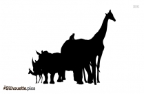 Black And White Wild Animals Clipart Silhouette