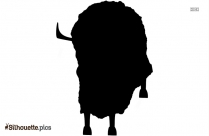 Black And White Yak Cartoon Silhouette