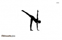Yoga For Beginners Silhouette Vector
