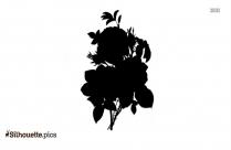 Black Tulip Flower Silhouette Vector