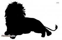 Black Animated Lion Silhouette Image
