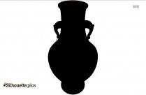 Antique Pottery Silhouette Art