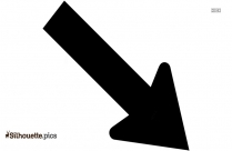 Black Arrow Pointing Diagonally Silhouette Image