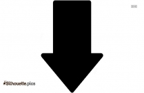 Down Arrow Silhouette Clip Art Image