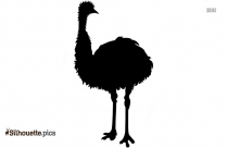 Australian Emu Silhouette Clipart