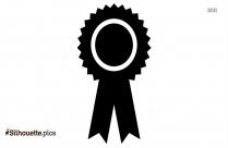 Black Award Ribbon Silhouette