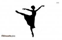 Ballerina Dance Workout Silhouette Free Vector Art