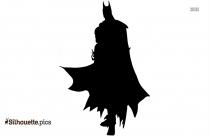 Black Batman Hero Silhouette Vector