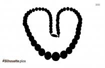 Charoite Necklace Symbol Silhouette