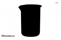 Black Beaker Silhouette Image
