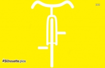 Fitness Bike Silhouette Drawing