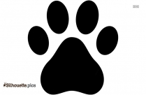 Bobcat Paw Print Silhouette Picture