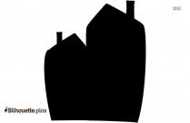 School Building Silhouette Vector Image