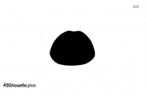 Black Candy Lips Silhouette Image