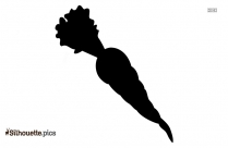 Black Carrot Plant Silhouette Image