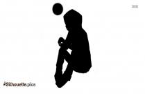 Little Boy Cartoon Silhouette Image
