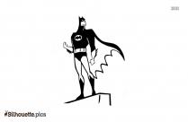 Black Cartoon Batman Silhouette Image
