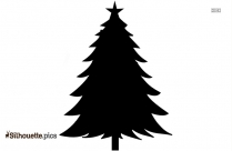 Cartoon Christmas Tree With Gifts Silhouette