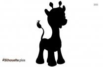 Dancing Giraffe Clip Art Silhouette