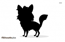 Black Cartoon Fox Silhouette Image