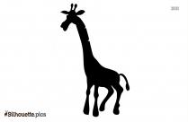 Black Cartoon Giraffe Silhouette Image