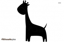 Black Cartoon Unicorn Silhouette Image For Free