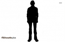 Black Cartoon Man Silhouette Vector