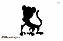 Black Cartoon Monkey Silhouette