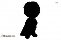 Little Boy Silhouette Vector Art
