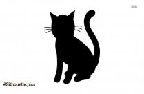 Cartoon Cat Silhouette Icon