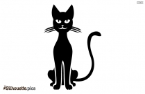Black Cat Vector Silhouette