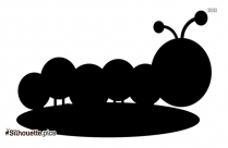 Black Caterpillar Silhouette Image