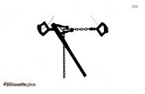 Black Chain Claw Restraint Silhouette Image