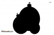 Black Christmas Ball Ornaments Silhouette Image