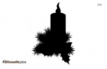 Christmas Candles Silhouette Free Vector Art