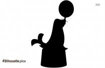 Black Circus Seal Silhouette Image