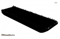 Black Coal Barge Silhouette Image