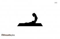 Cobra Pose Silhouette Image