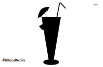 Martini Glass Silhouette Clip Art, Vector Art