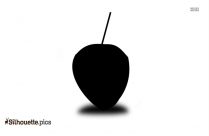 Black Coconut Drink Silhouette Image
